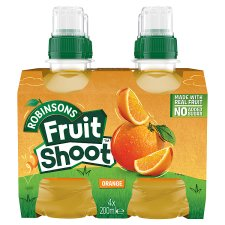 Robinsons Fruit Shoot Orange No Added Sugar 4X200ml
