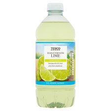 Tesco Double Strength Lime Squash No Added Sugar 750Ml