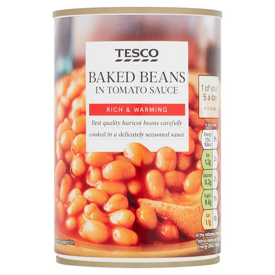 Tesco Baked Beans In Tomato Sauce 420G - Groceries - Tesco Groceries
