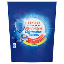 Tesco All In One Dishwasher Tablets Lemon 60'S