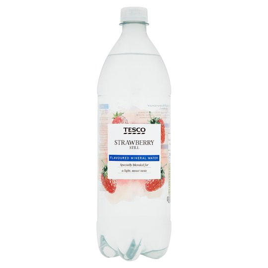 Tesco Strawberry Still Flavoured Water 1Ltr