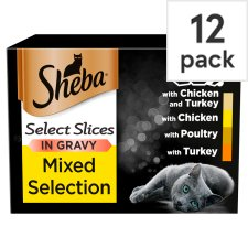 image 1 of Sheba Poultry Gravy Cat Food Trays 12 X85g