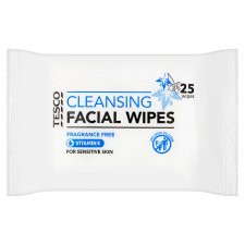Tesco Sensitive Facial Wipes 25'S