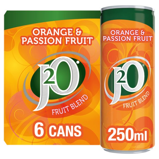 J20 Orange And Passion Fruit Cans 6 X 250Ml