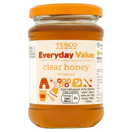 Tesco Everyday Value Clear Honey 340G