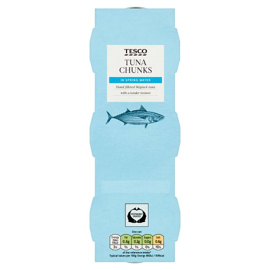 Tesco Tuna Chunks In Spring Water 3X80g
