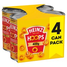 Heinz Spaghetti Hoops In Tomato Sauce 4 X 400G