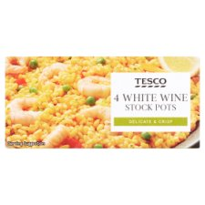 Tesco White Wine Stock Pots 4 Pack 112G