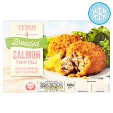 Tesco 4 Breaded Salmon Fishcakes 340G