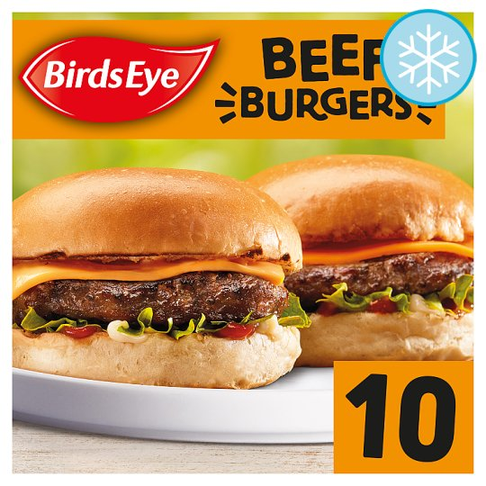 Birds Eye 10 Original Beef Burgers 567G