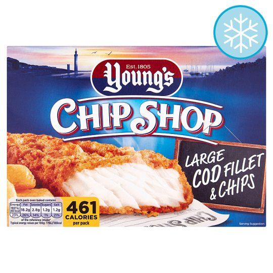 Youngs Chip Shop Cod Fillet And Chips 300G