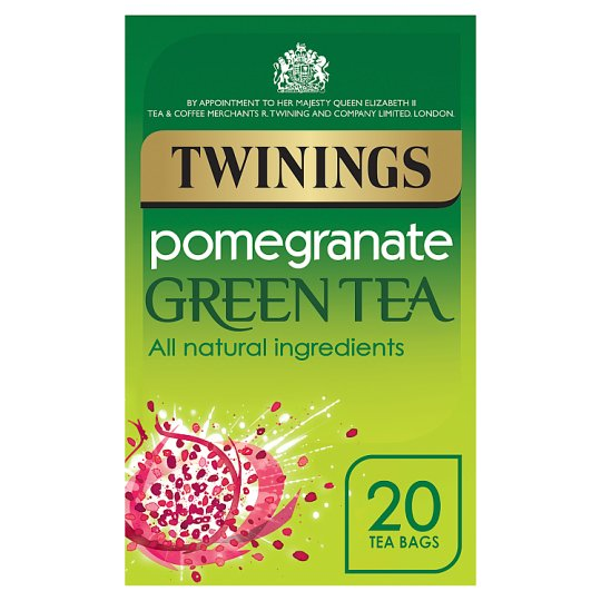Twinings Green Tea Pomegranate 20 Tea Bags 40G