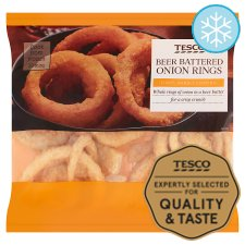 Tesco Onion Ring Natural Battered Beer 300G