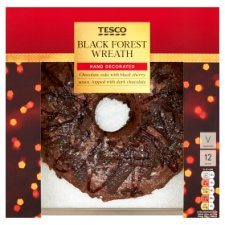 Tesco Black Forest Wreath Cake