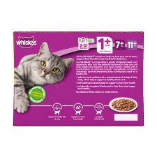 image 4 of Whiskas 1+ Cat Food Pouches Poultry in Jelly 12x100g