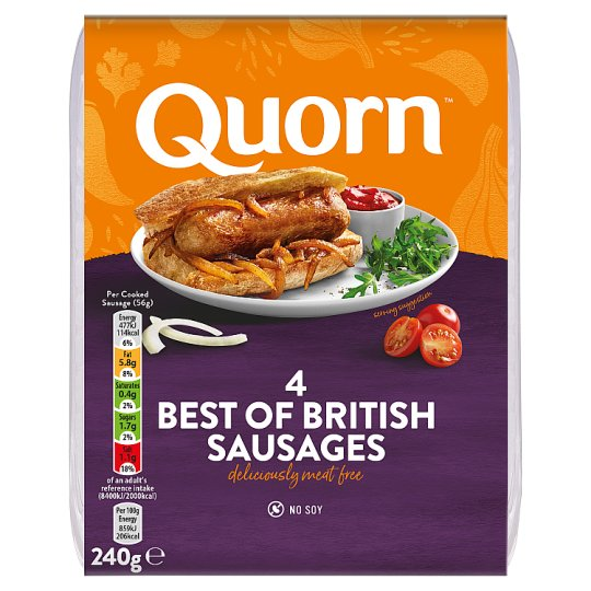 Quorn Meat Free Best Of British Sausages 240G