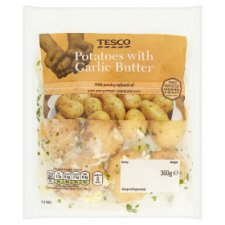 Tesco Potatoes With Garlic Butter And Parsley 360G