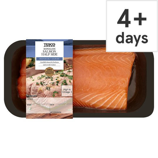 image 1 of Tesco Boneless Half Salmon Side 500G