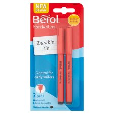 Berol Handwriting Pens Black 2 Pack