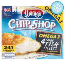 Youngs Chip Shop 4 Fish Fillet 480G