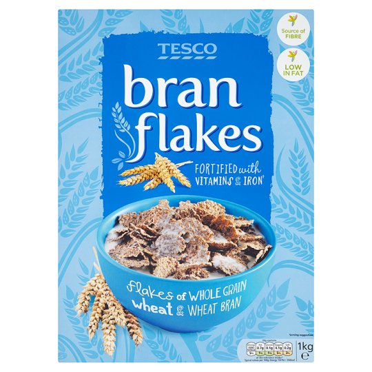 Tesco Bran Flakes Cereal 1Kg