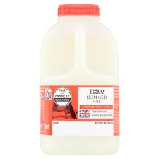 Tesco British Skimmed Milk 568Ml, 1 Pint