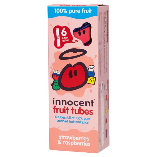 Innocent Strawberry And Raspberry Fruit Tubes 6 X 40G