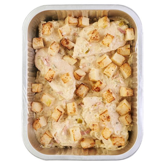 Tesco Easy Entertaining Chicken Leek & Bacon Gratin Serves 8