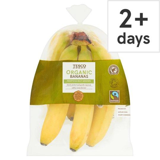 Tesco Organic Fair Trade Bananas 6 Pack