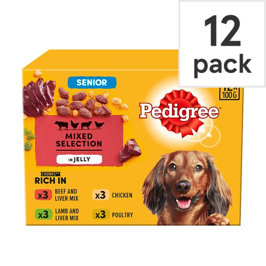 image 1 of Pedigree Jelly Senior Dog Food Pouches 12 X100g