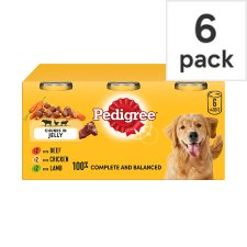 image 1 of Pedigree Can Meat Jelly Dog Food Tins 6X400g