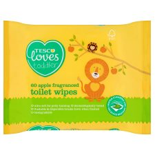 Tesco Loves Toddler Apple Fragrance Toilet Wipes 60 Pack