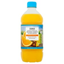 Tesco Double Concentrate Lemon Orange And Pineapple No Added Sugar Squash 750Ml