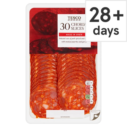 Tesco Spanish Sliced Chorizo Sausage 150G