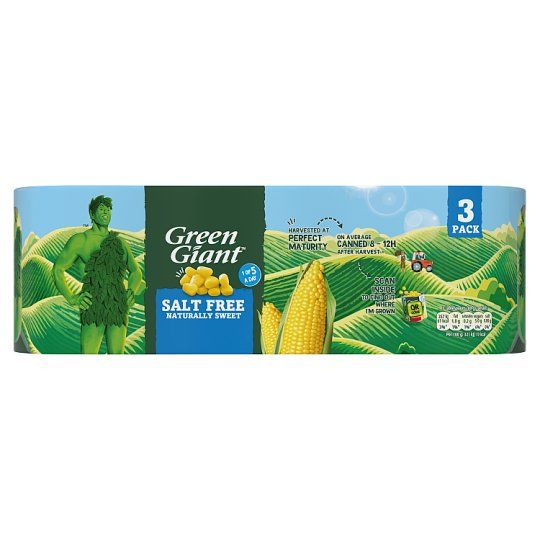 Green Giant Salt Free Sweetcorn 3X340g