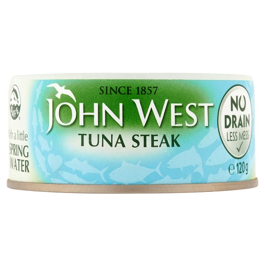 John West No Drain Tuna Steak In Spring Water 120G
