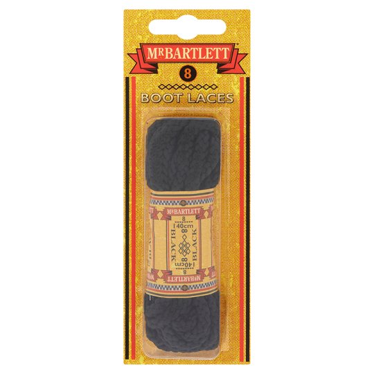 Mr Bartlett Boot Laces Black 140Cm/ 8 Hole