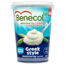 Benecol Greek Style Plain Yogurt 450G