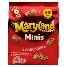 Maryland Cookies Chocolate Chip Minis 6 Bags 118.8G