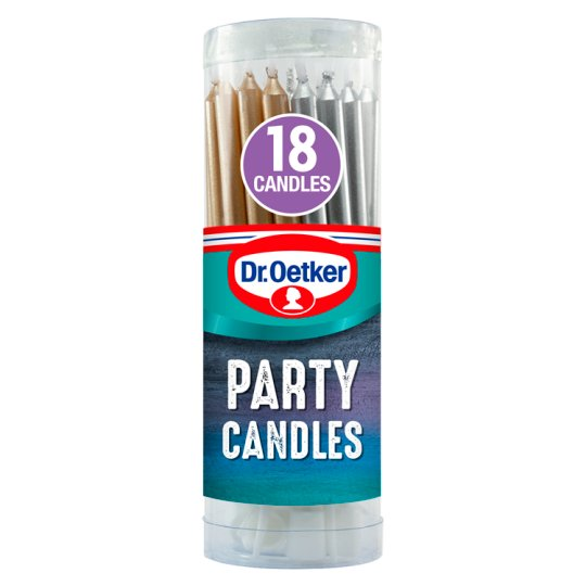 Plastic Christmas Cake Decorations Tesco : Dr. Oetker Party Candles 18 - Groceries - Tesco Groceries