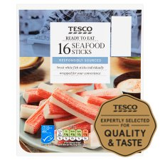 Tesco 16 Seafood Sticks 250G