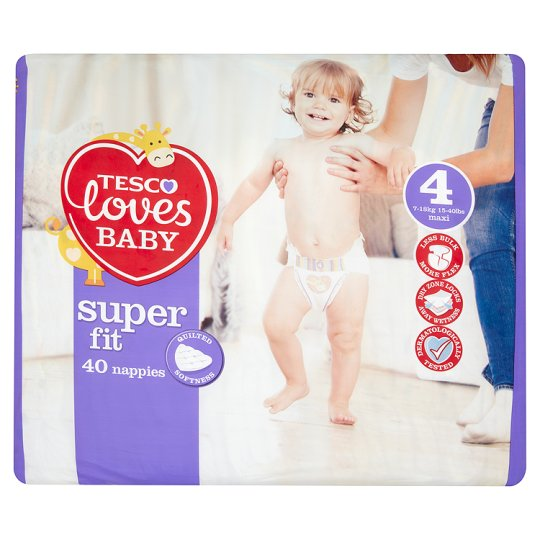 Tesco Loves Baby Superfit Size 4 Economy Pack 40
