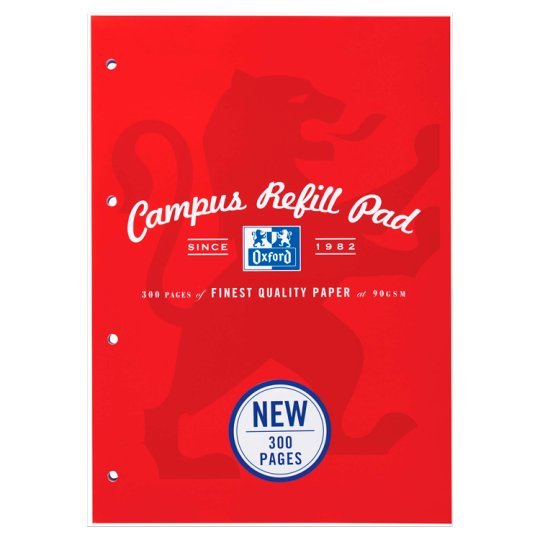 Oxford Campus A4 Refill Pad 300 Pg