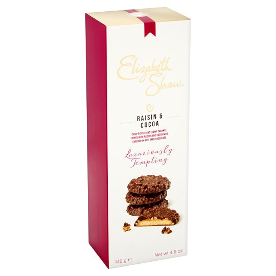 Elizabeth Shaw Raisin And Cocoa Biscuits 140G