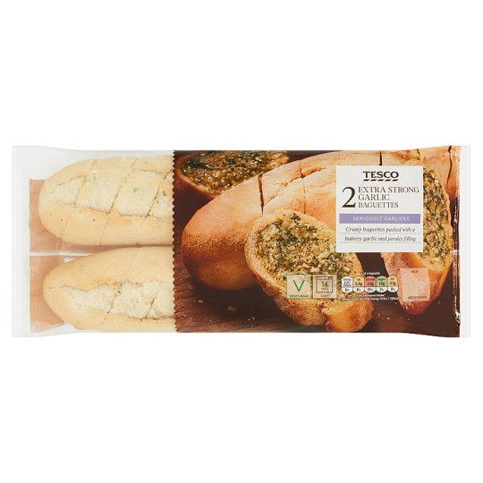 Tesco Extra Strong Garlic Butter Baguette 2 Pack, 430 G
