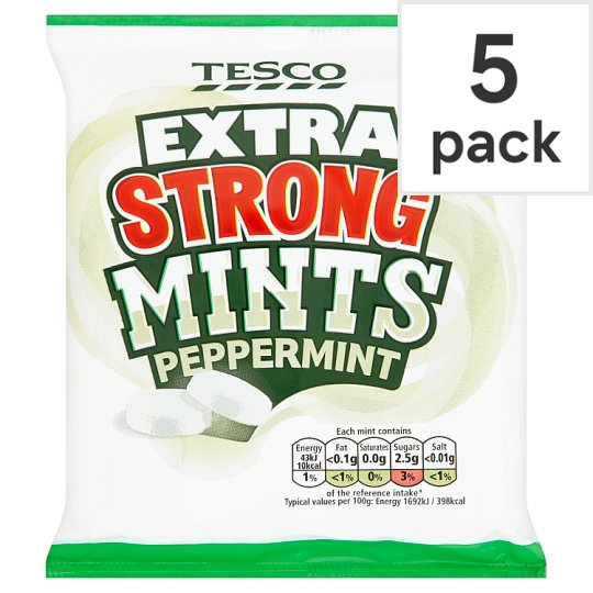 Tesco Extra Strong Mints 5 Pack 204G