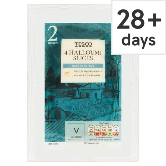 Tesco Halloumi Burger 4X Slices 200G