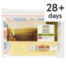 Tesco Organic Mature Cheddar Cheese 460G