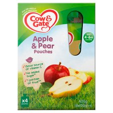 Cow & Gate Fruit Pouch Apple And Pear 100G X 4
