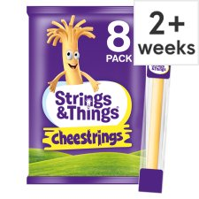 Cheestrings Original 8Pk Cheese Snacks 160G